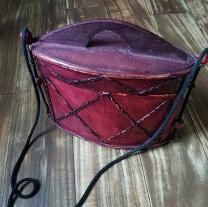 Unique boho wooden purse